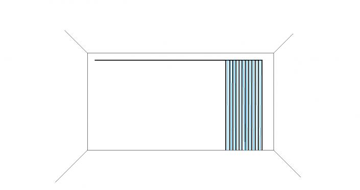 gordijn pakket rechts