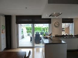 vouwgordijnen keuken en woonkamer