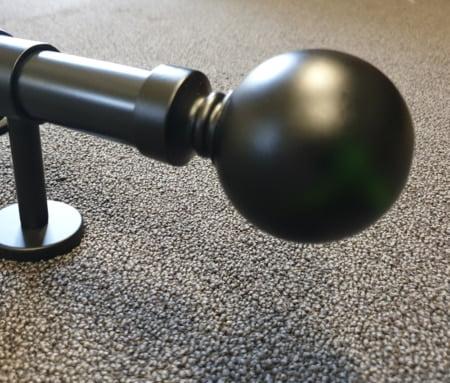 Bolknop zwart 29mm