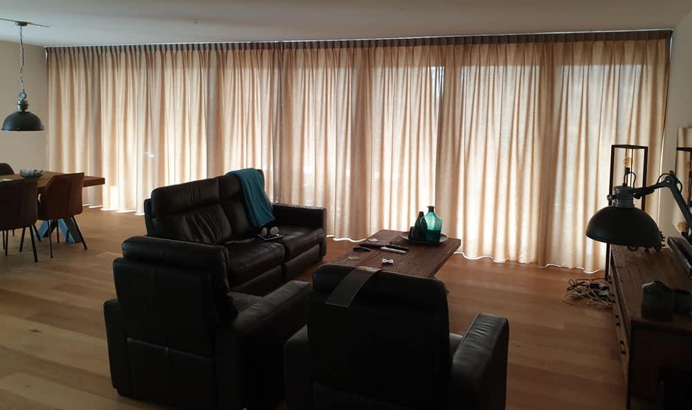 Gordijnen voor brede ramen