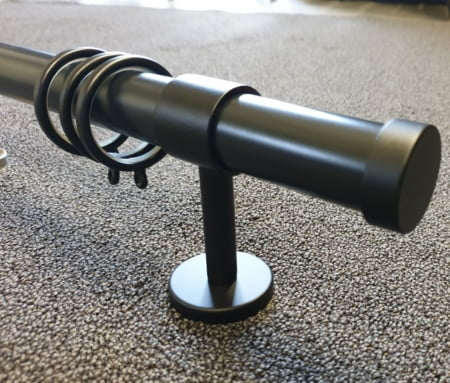 Gordijnroede zwart 180 cm 29mm