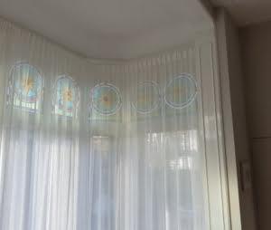 Transparante gordijnen enkele plooi